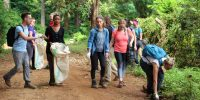 Litter picking at Rau Forest Reserve